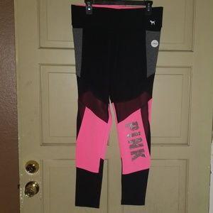 4 Pairs Victoria's Secret Pink Leggings NEW Size L